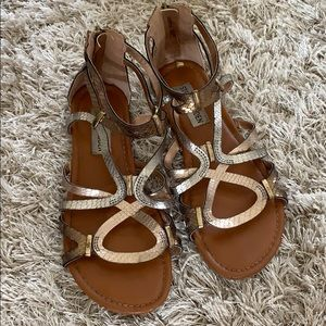 Girls' STEVE MADDEN Bronze Sandals Size 3